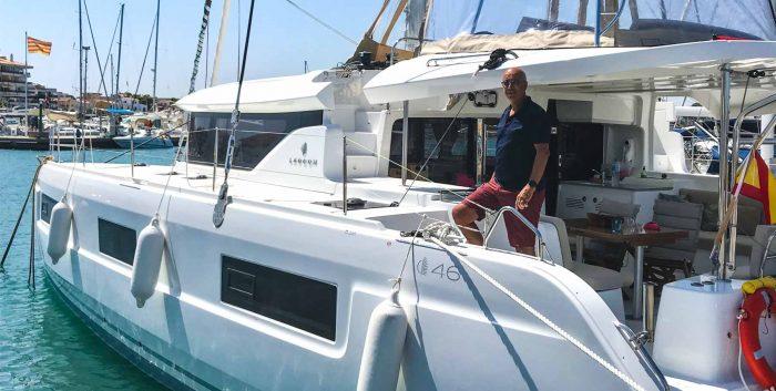 Andreu Pujades i el Salvach al Club Nàutic l'Escala